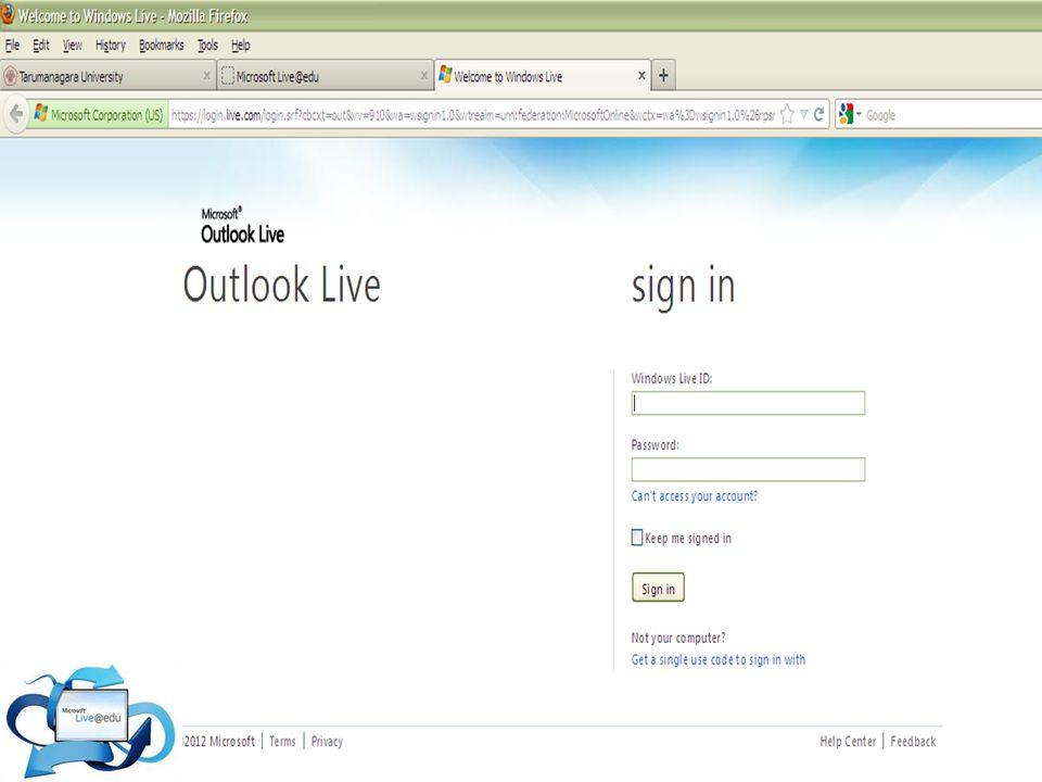 Ada cari lain untuk mengakses Live@Edu loh! Ketik www.outlook.com Mau tau dong kakak *muka memelas*