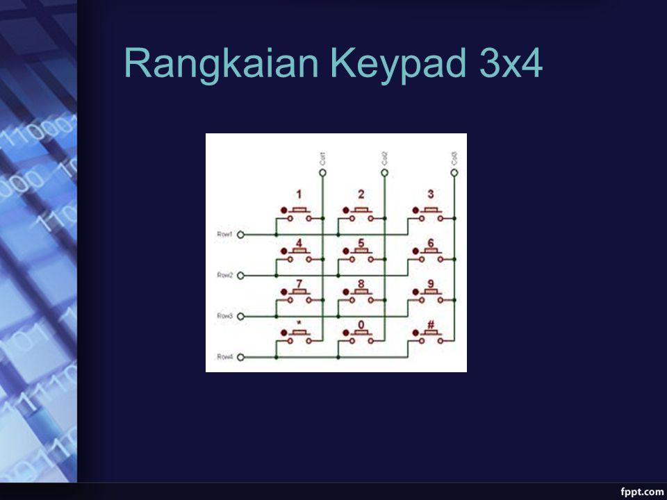 Rangkaian Keypad 3x4