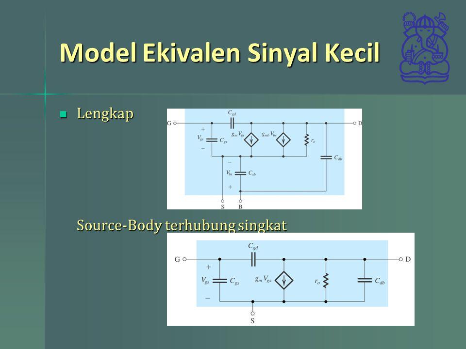 Model Ekivalen Sinyal Kecil Lengkap Source-Body terhubung singkat Lengkap Source-Body terhubung singkat