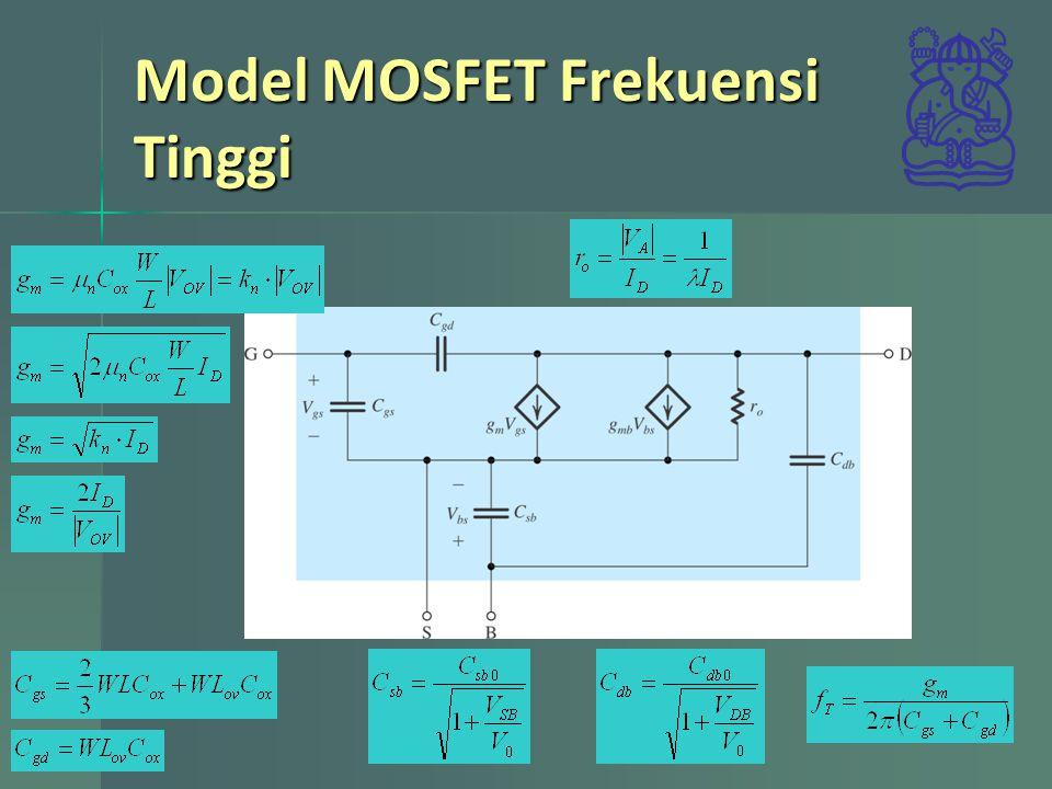 Model MOSFET Frekuensi Tinggi