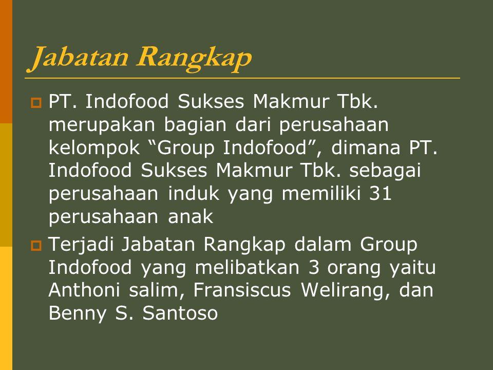 Jabatan Rangkap  PT.Indofood Sukses Makmur Tbk.