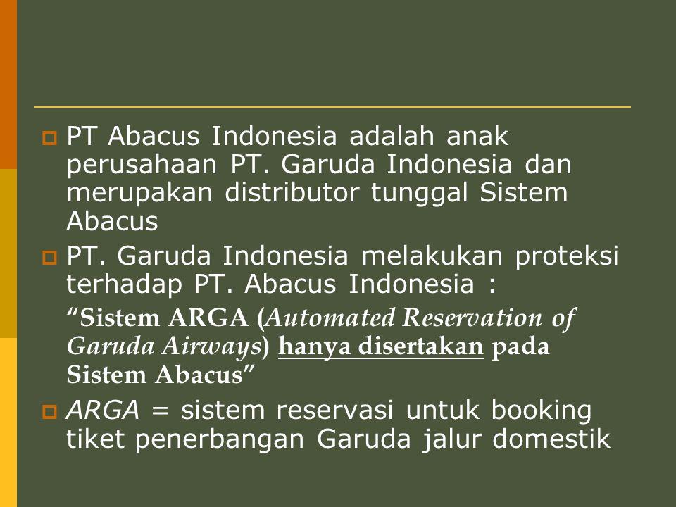  PT Abacus Indonesia adalah anak perusahaan PT.