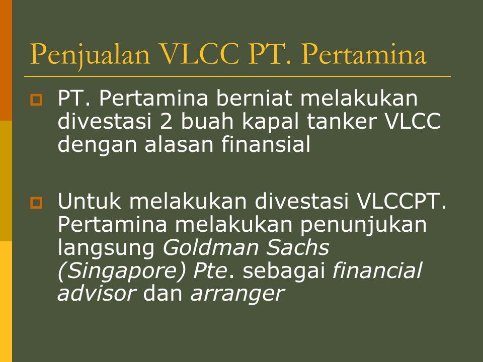 Penjualan VLCC PT.Pertamina  PT.