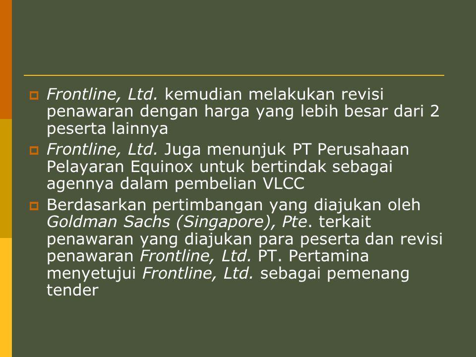  Frontline, Ltd.