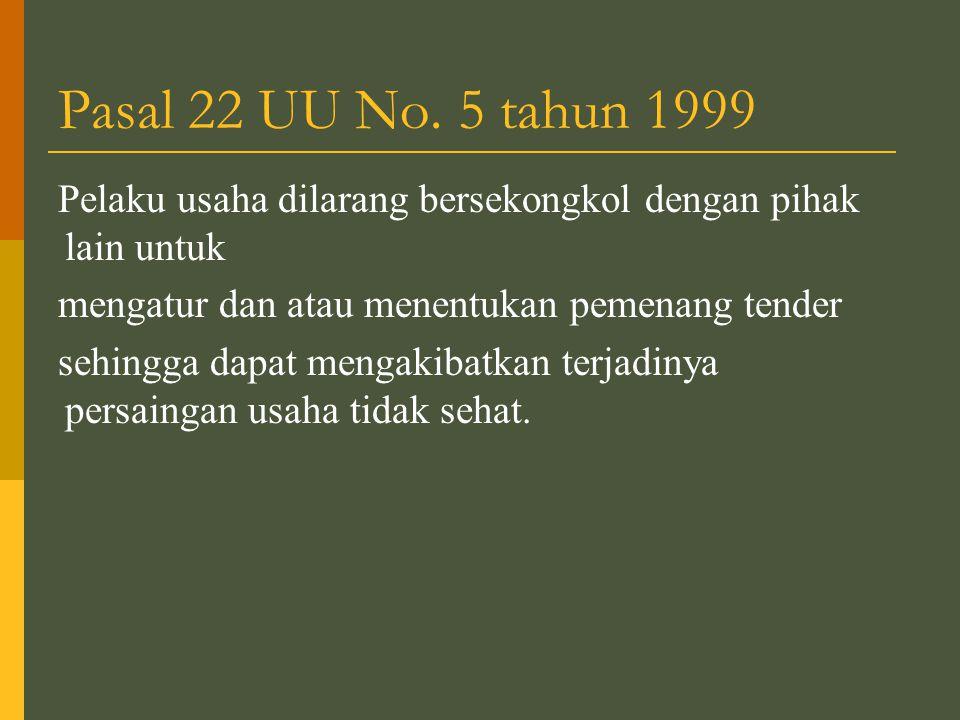 Pasal 22 UU No.