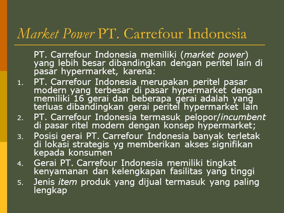 Market Power PT.Carrefour Indonesia PT.