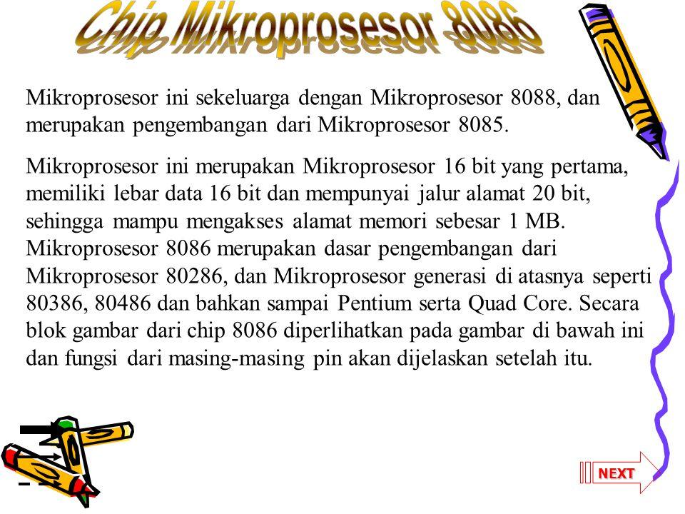 NEXT Mikroprosesor ini sekeluarga dengan Mikroprosesor 8088, dan merupakan pengembangan dari Mikroprosesor 8085. Mikroprosesor ini merupakan Mikropros
