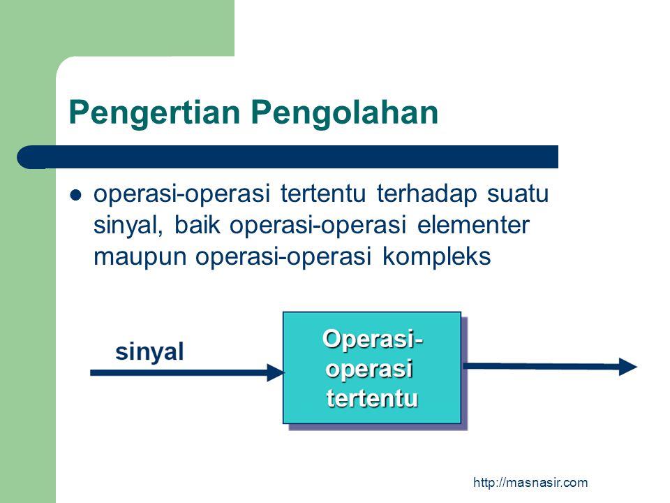 Pembagian Sinyal Sinyal dibagi berdasarkan beberapa kriteria: 1.