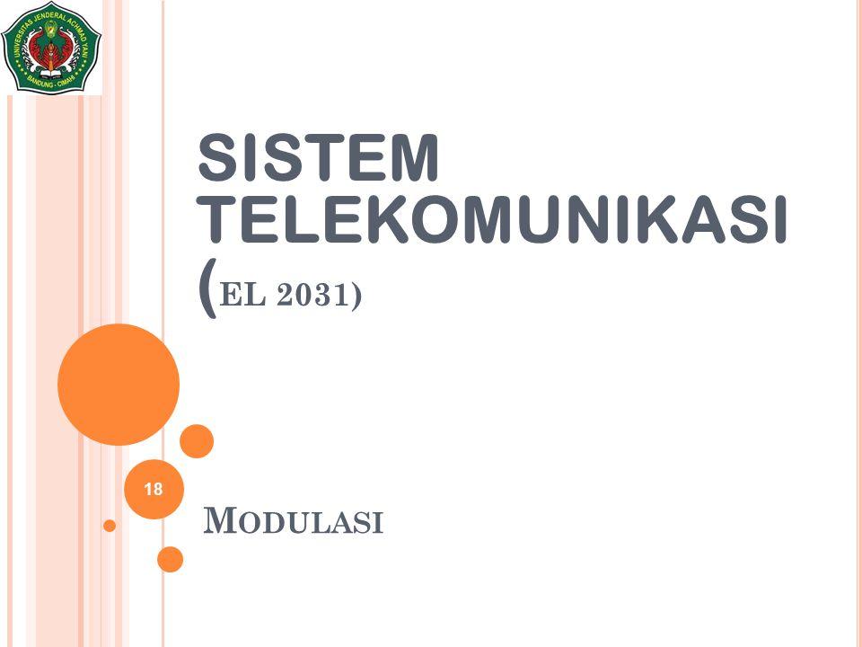 M ODULASI 18 SISTEM TELEKOMUNIKASI ( EL 2031)