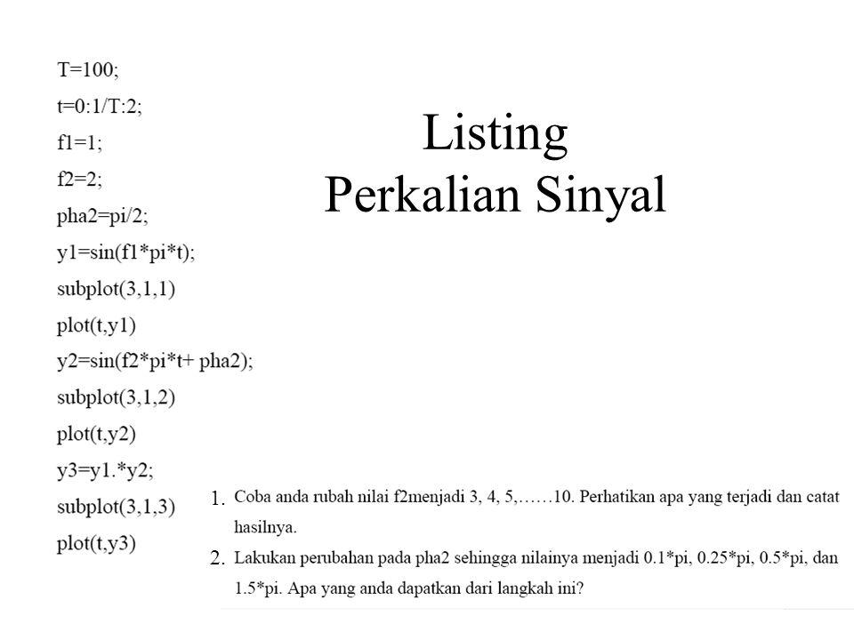 Listing Perkalian Sinyal 1. 2.