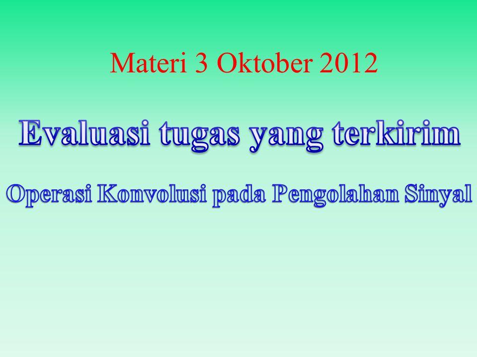 Materi 3 Oktober 2012