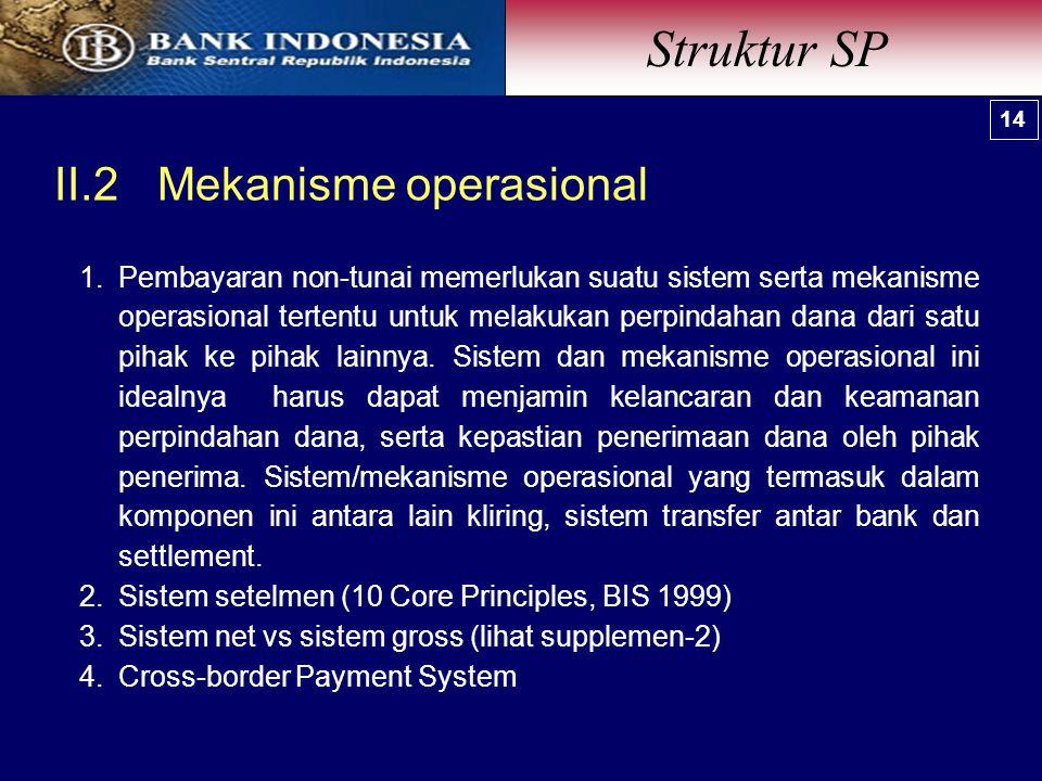 1.Pembayaran non-tunai memerlukan suatu sistem serta mekanisme operasional tertentu untuk melakukan perpindahan dana dari satu pihak ke pihak lainnya.