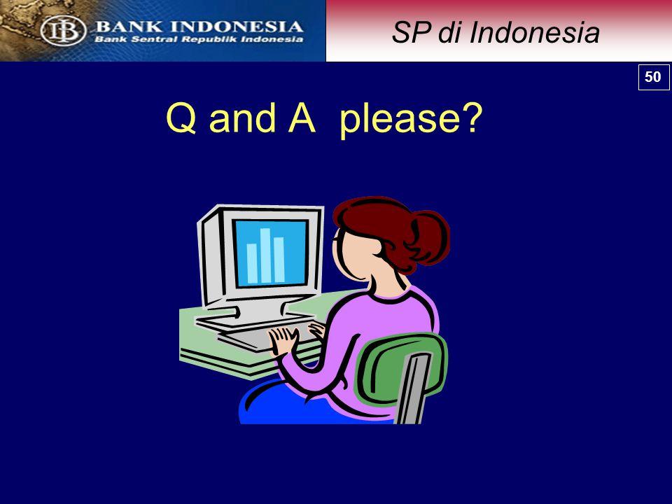 Q and A please? 50 SP di Indonesia 50