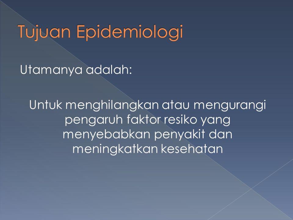 Utamanya adalah: Untuk menghilangkan atau mengurangi pengaruh faktor resiko yang menyebabkan penyakit dan meningkatkan kesehatan
