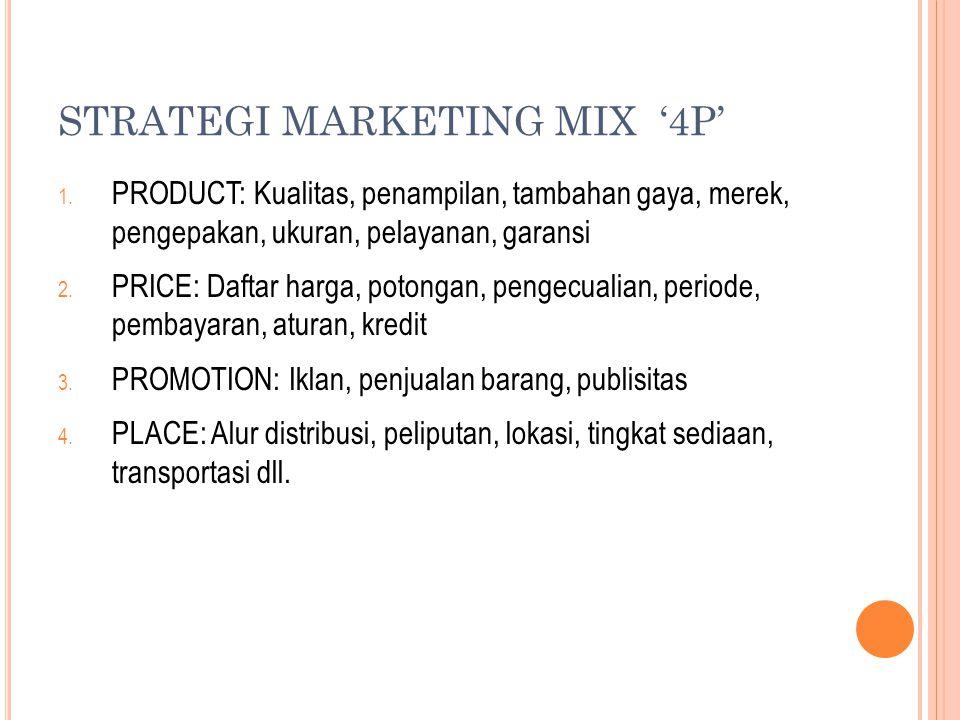STRATEGI MARKETING MIX '4P' 1.