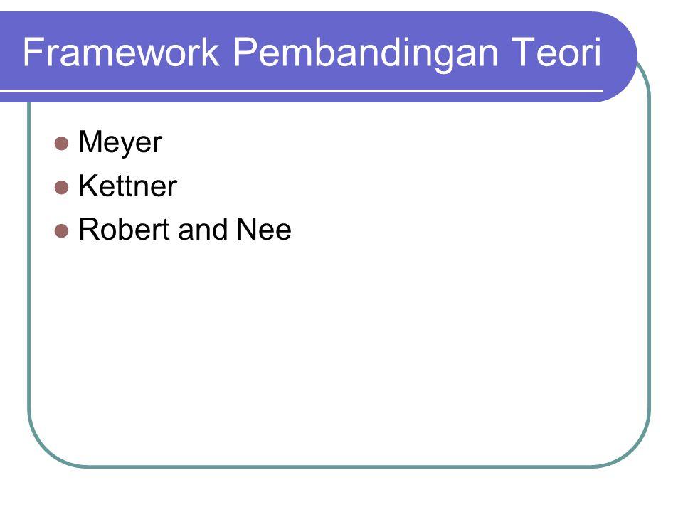 Framework Pembandingan Teori Meyer Kettner Robert and Nee