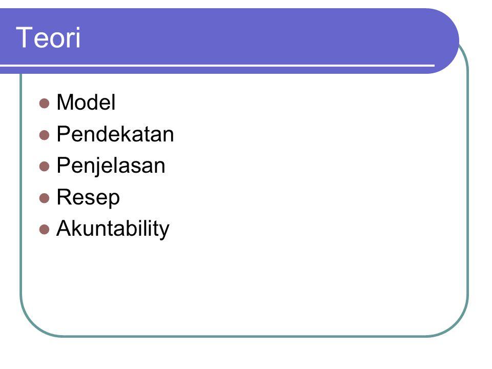 Teori Model Pendekatan Penjelasan Resep Akuntability