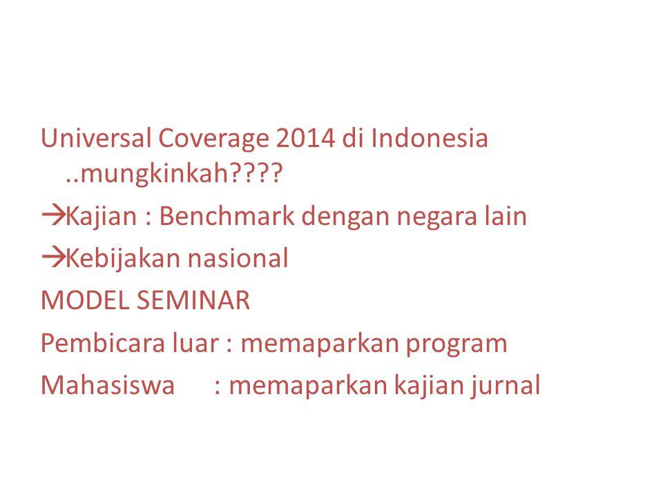 Universal Coverage 2014 di Indonesia..mungkinkah .