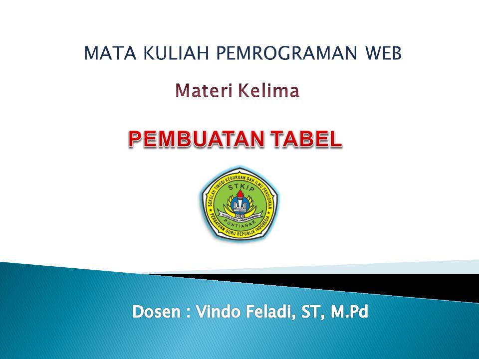 MATA KULIAH PEMROGRAMAN WEB