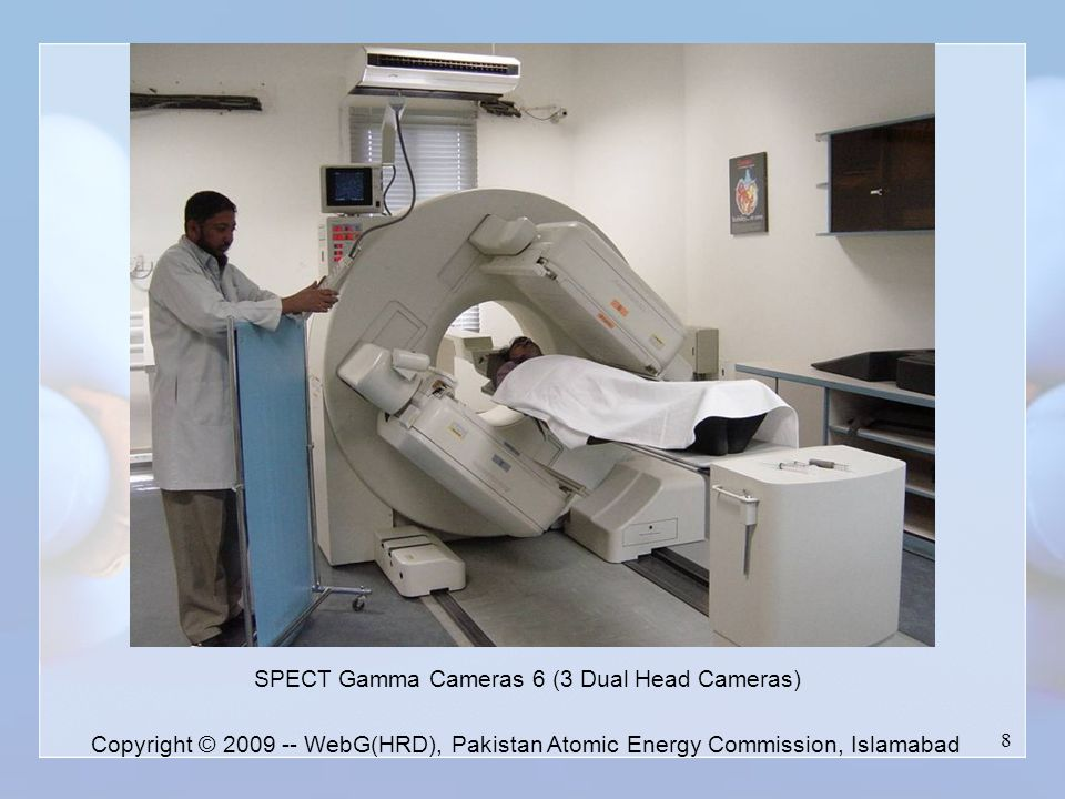 8 SPECT Gamma Cameras 6 (3 Dual Head Cameras)‏ Copyright © 2009 -- WebG(HRD), Pakistan Atomic Energy Commission, Islamabad