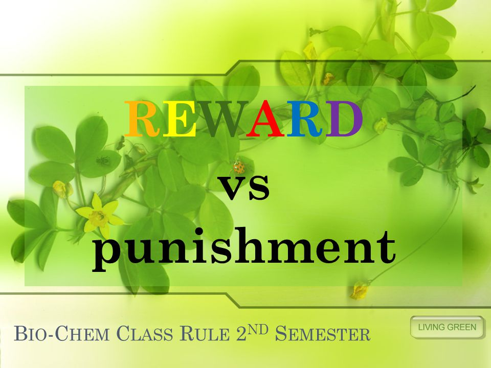 B IO -C HEM C LASS R ULE 2 ND S EMESTER REWARD vs punishment