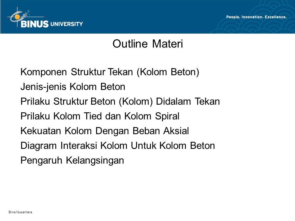 Bina Nusantara Komponen Struktur Tekan (Kolom Beton)