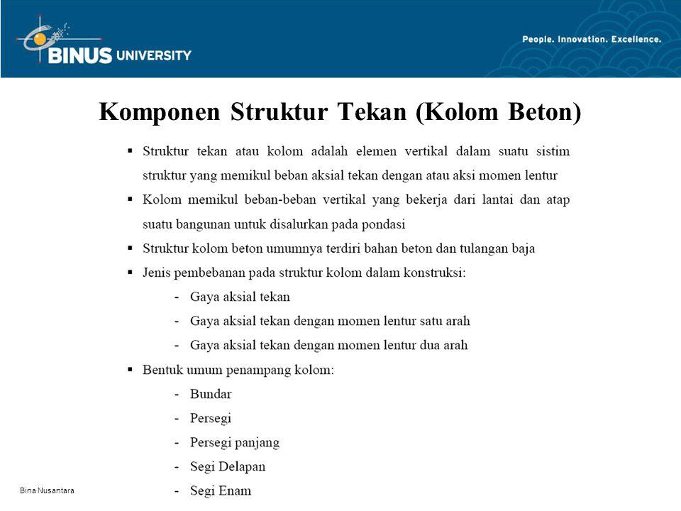 Bina Nusantara Prilaku Kolom Tied dan Kolom Spiral