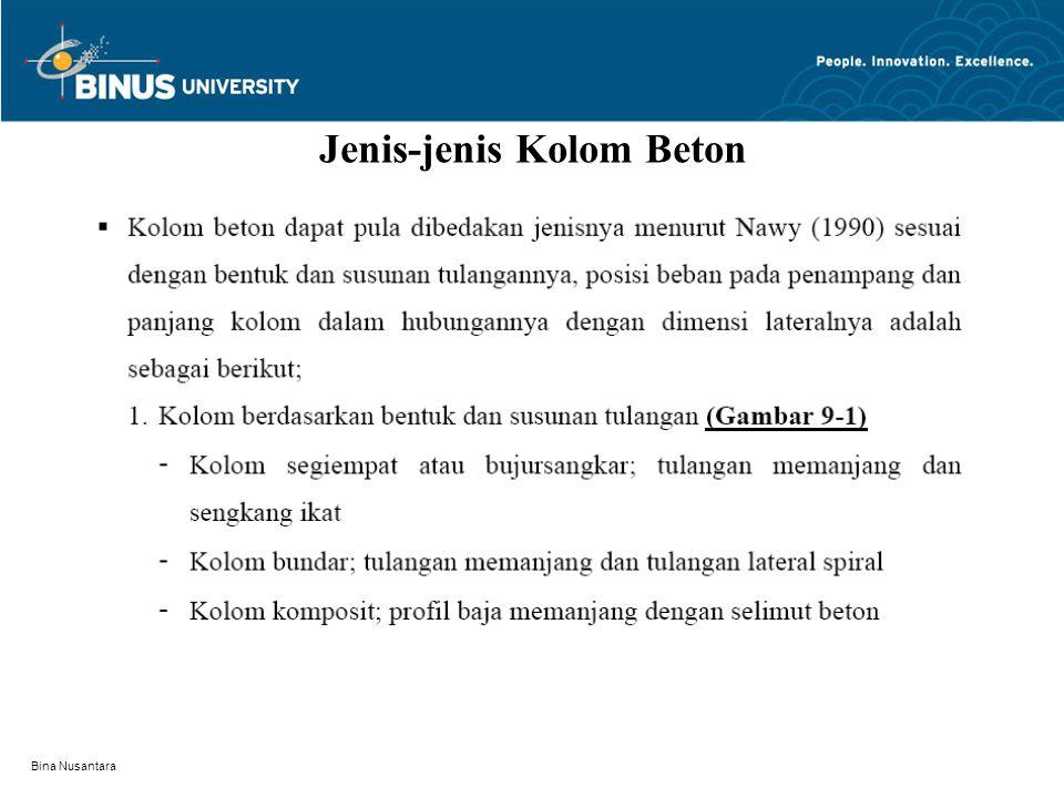 Bina Nusantara Jenis-jenis Kolom Beton