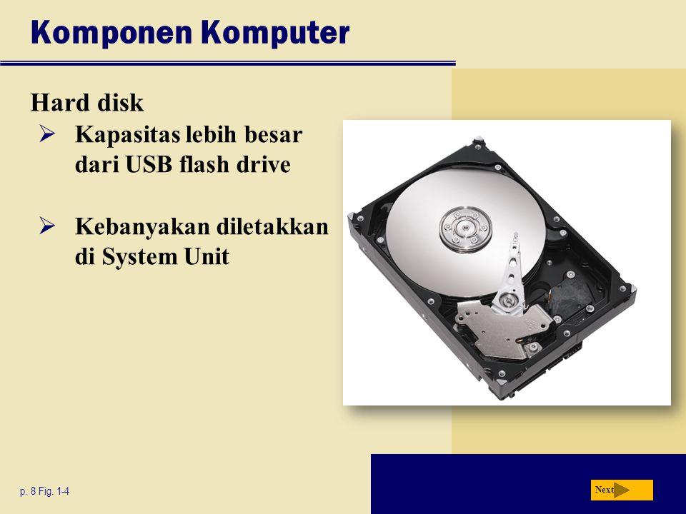 Komponen Komputer Hard disk p.8 Fig.