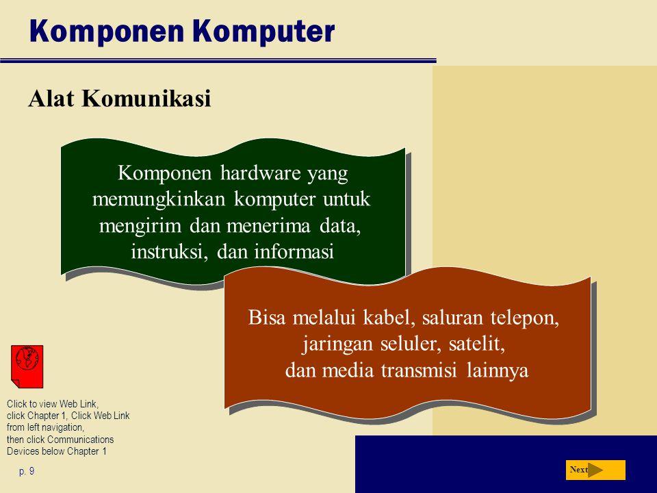 Komponen Komputer Alat Komunikasi Next p.