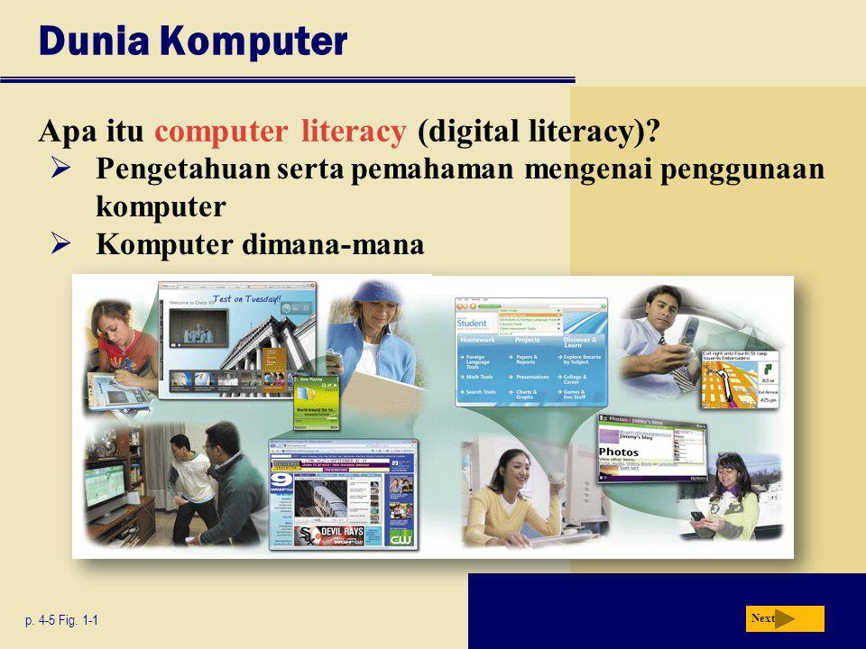 Dunia Komputer Apa itu computer literacy (digital literacy).