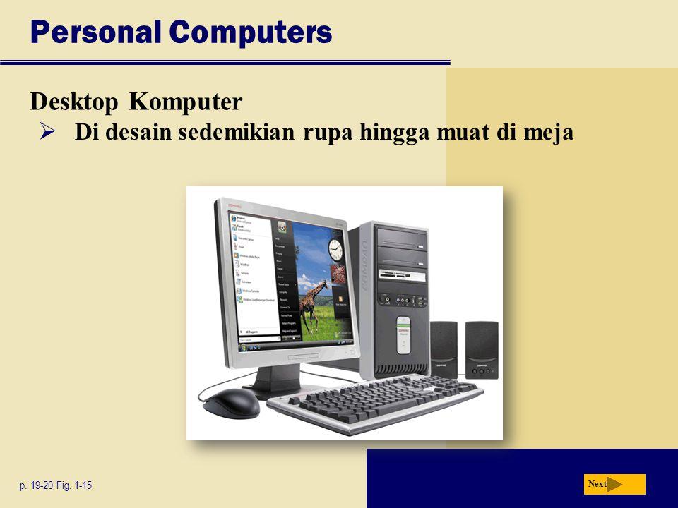 Personal Computers Desktop Komputer p.19-20 Fig.
