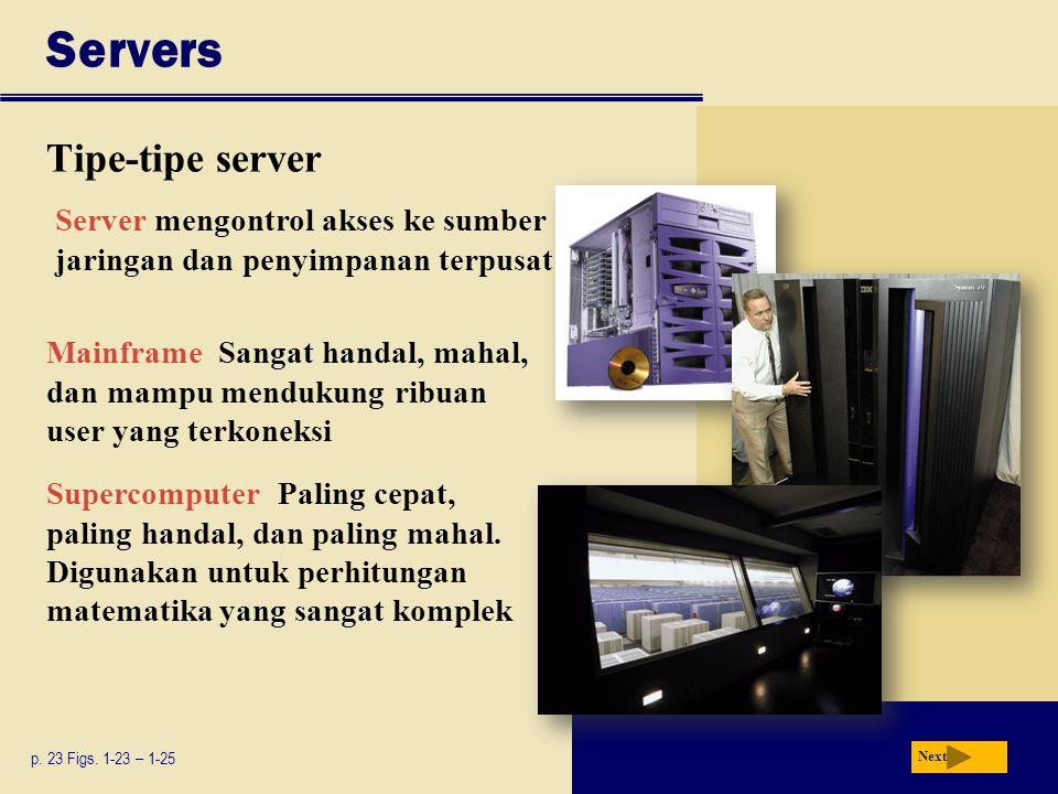 Servers Tipe-tipe server p.23 Figs.