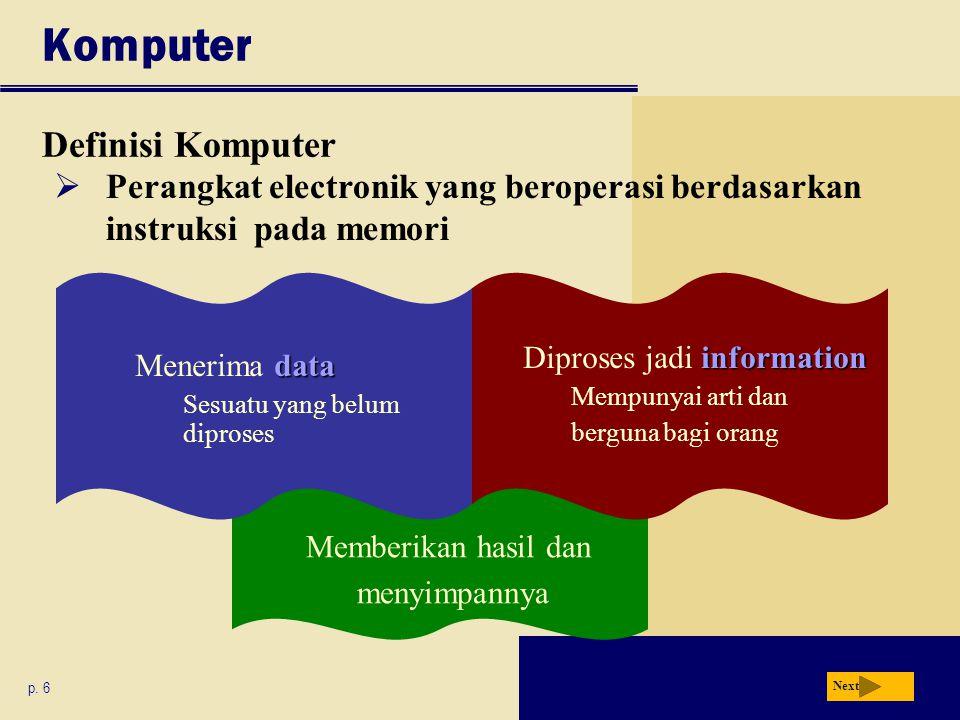 Definisi Komputer Komputer p.