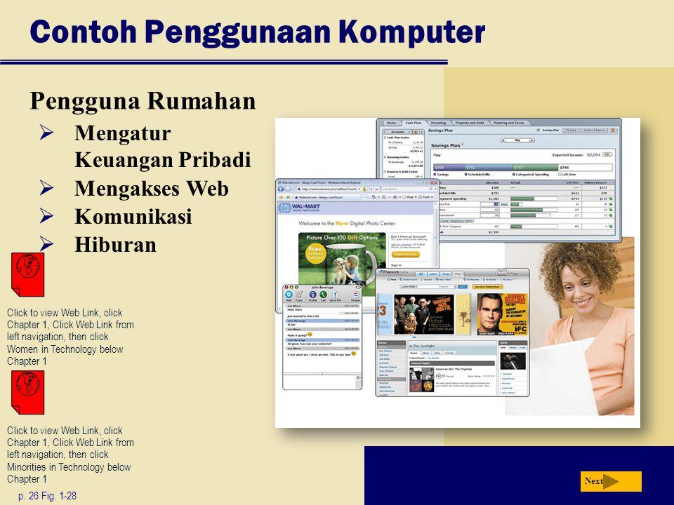 Contoh Penggunaan Komputer Pengguna Rumahan p.26 Fig.