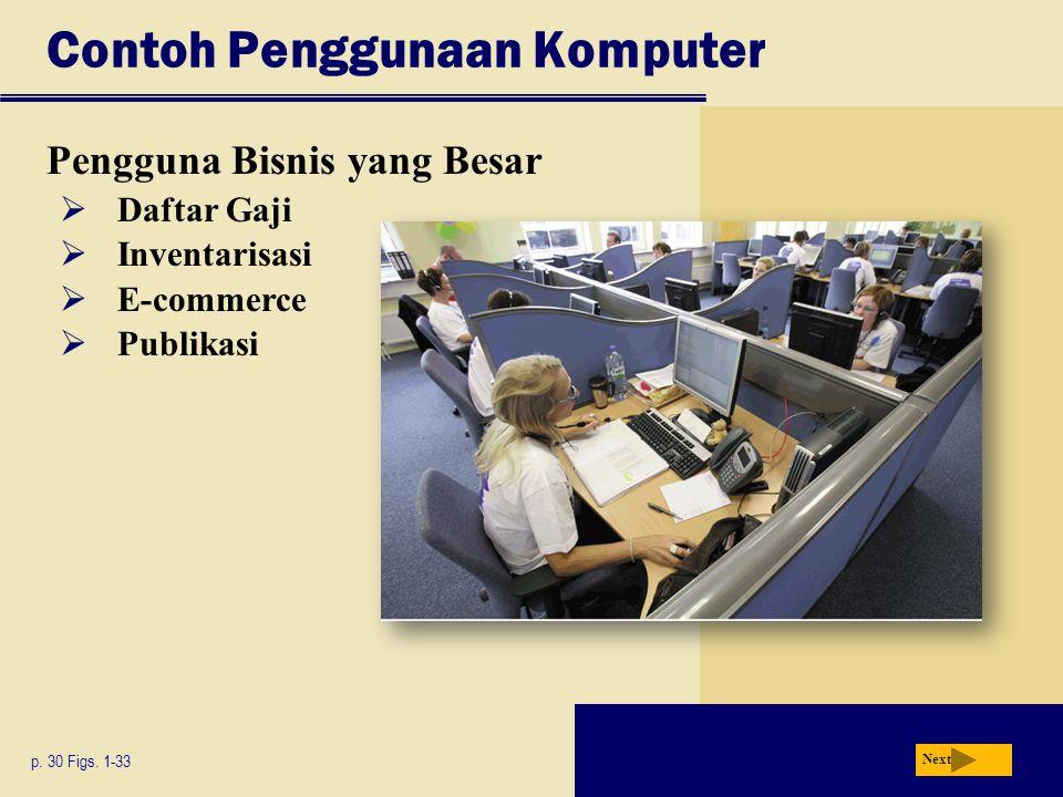 Contoh Penggunaan Komputer Pengguna Bisnis yang Besar p.