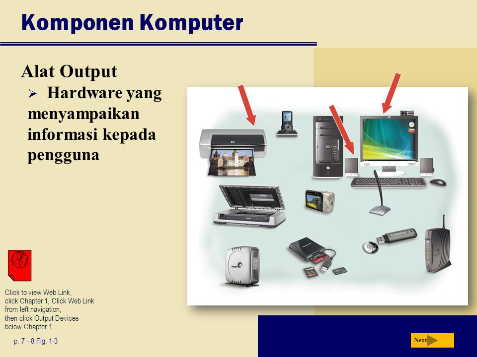 Ringkasan Basic computer concepts The term, computer The components of a computer The advantages and disadvantages of using computers The purpose of a network The uses of the Internet Computer software Categories of computers Types of computer users Computer applications in society Chapter 1 Complete