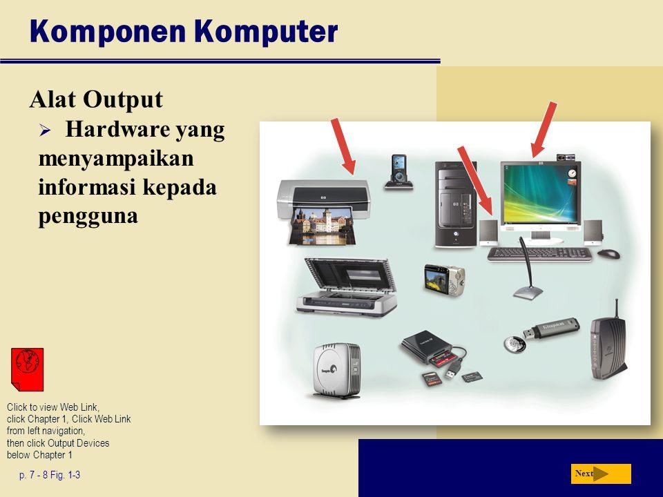 Komponen Komputer Alat Output p.7 - 8 Fig.