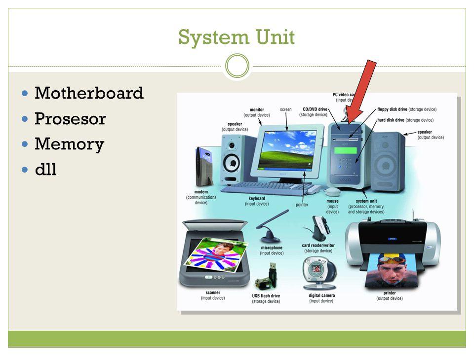 System Unit Motherboard Prosesor Memory dll