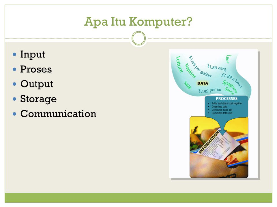 Apa Itu Komputer? Input Proses Output Storage Communication
