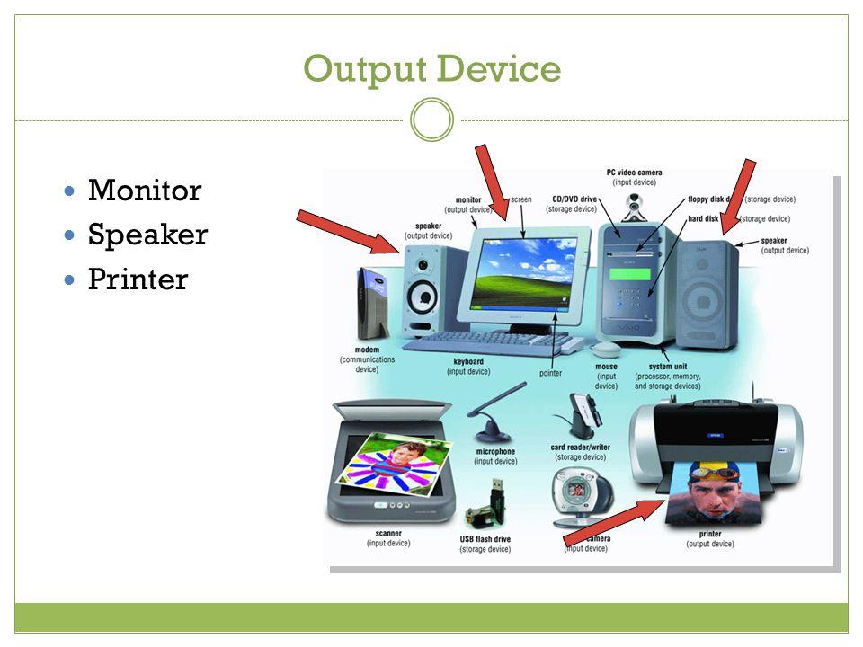 Output Device Monitor Speaker Printer