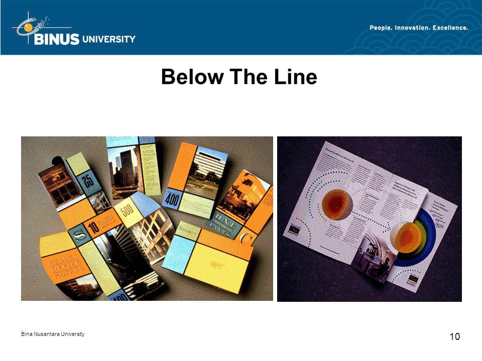 Bina Nusantara University 10 Below The Line