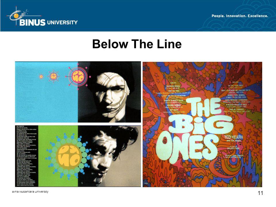Bina Nusantara University 11 Below The Line