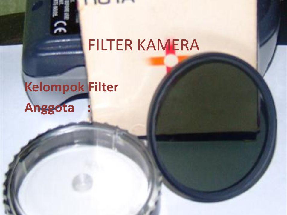 FILTER KAMERA Kelompok Filter Anggota :