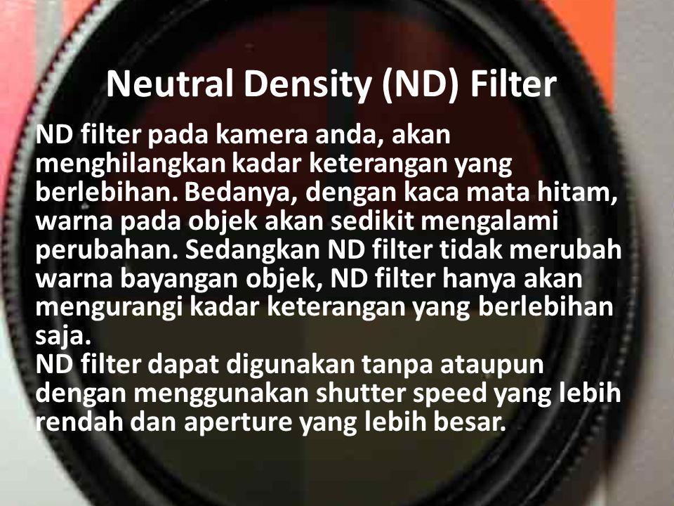 Polarizing Filter filter dapat membantu anda untuk mengurangi atau bahkan menghilangkan cahaya yang menyilaukan, Lebih dari itu, filter ini juga dapat memperdalam warna langit.