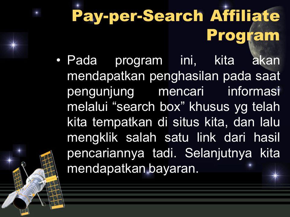 """Pada program ini, kita akan mendapatkan penghasilan pada saat pengunjung mencari informasi melalui """"search box"""" khusus yg telah kita tempatkan di situ"""
