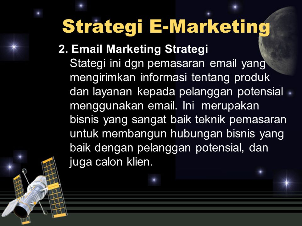 Strategi E-Marketing 2.