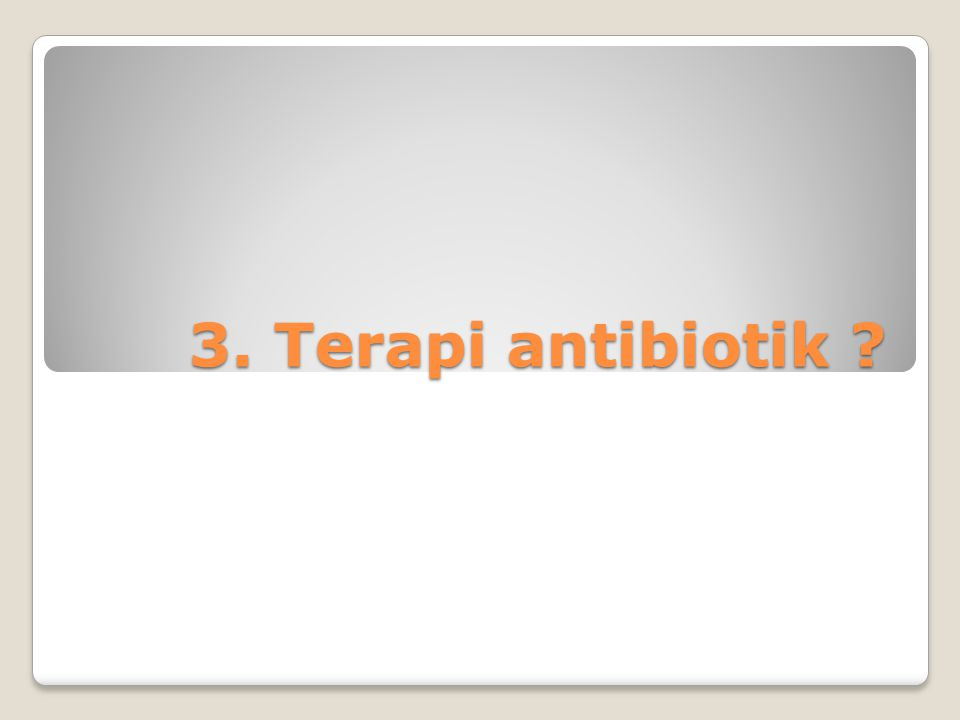 3. Terapi antibiotik