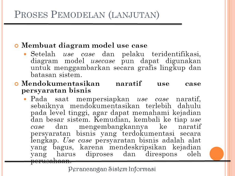 Perancangan Sistem Informasi K EBUTUHAN N ON F UNGSIONAL Kebutuhan non fungsional merupakan fitur-fitur pelengkap yang menunjang kerja sebuah sistem dan mempunyai pengaruh yang tidak langsung.