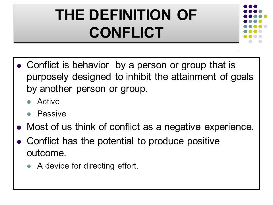 Pandangan Tentang Konflik Semua konflik merugikan dan harus dihindari.